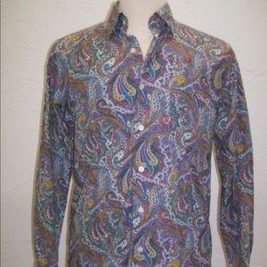 Men's Paisley Alan Flusser Dress Shirt